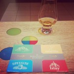 Sampling cards for the Scotch Whisky Experience.